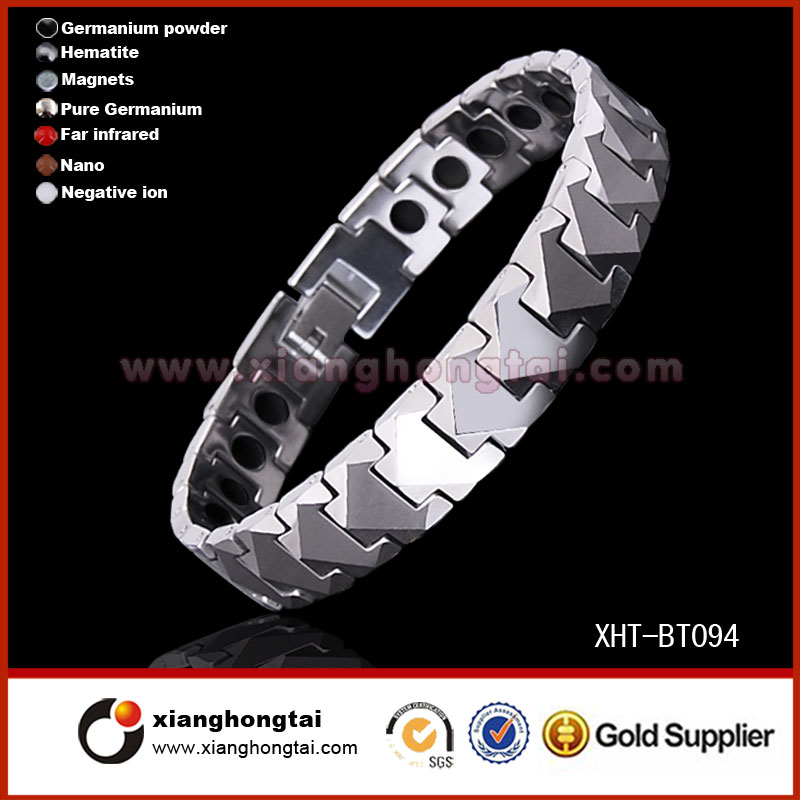 Wholesale magnetic tungsten jewelry with energy stone