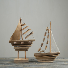 Handmade cheap wood sailing boat wooden ship model for sale
