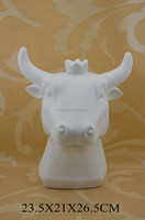 factory direct ceramic cow figurine for decoration