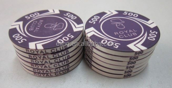 14 Gram Colorful Clay Poker Chips handle wood stamps of tree