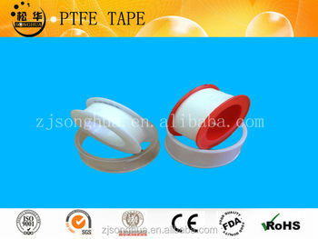 white and red ptfe thread seal tape