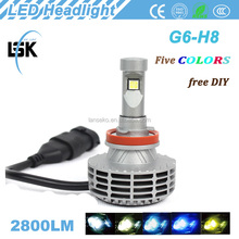 New product !!! G6 led headlight high power 25w car driving lamp bulb 2800lm with American A380 aluminum alloy material