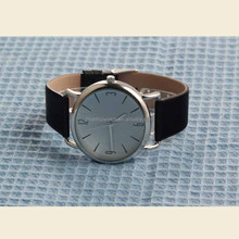 Simple Fasion Genuine leather band stainless steel elegant couple watch