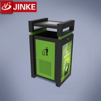 Cheap Metal Advertising Recycle Bin Eco Garden Waste Bin Stand