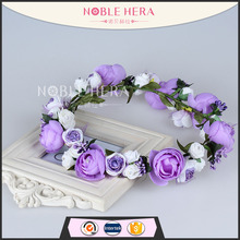 Hot Selling Girls Hair Accessories Flower Crown <strong>Headband</strong>