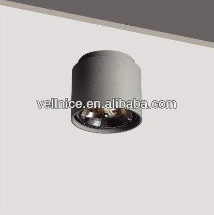Hoalgen Round aluminium AR111 ceiling light / QR111 ceiling light with G53 lampholder
