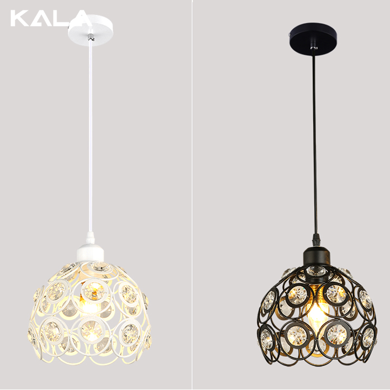 Home decor light fixtures,crystal vintage cage pendant lamp led ceiling lights