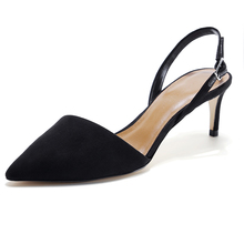 Woman Shoes Wholesale Lady Official High Heel Black Shoes All Ladies Footwear Design