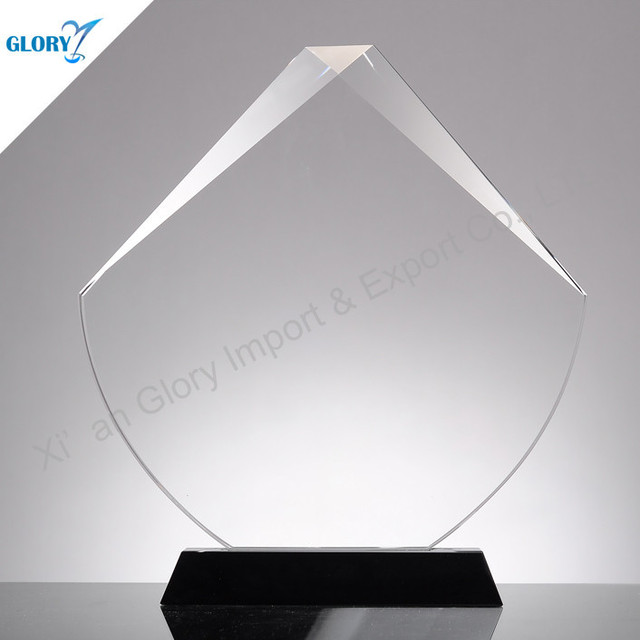 Recognition Trophy K9 Crystal Plaque Gift for Corporate Award