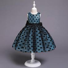 Sequined <strong>Dress</strong> <strong>Girl's</strong> Polka Dot <strong>Dress</strong> Bow Princess Pompous Party <strong>Dress</strong> for Children
