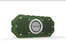 Cool outdoor gear, rugged IPX5 waterproof bluetooth speaker with tough silicone cover