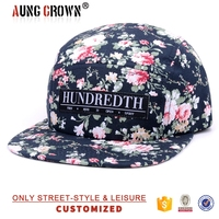 floral custom 5 panel wholesale camper hat