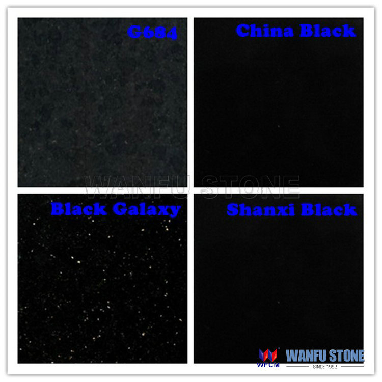Black Sparkle Granite Skirting Tile For Bathroom Floor And Wall