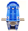 Size 75 Right Angle Worm Gearbox 100:1 Ratio 9 RPM Motor Ready Type NMRV With Double Output Shaft