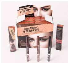 Music Flower Double-end Dye Eyebrow Cream 3 Colors Eyebrow Pencil Multifunction Longlasting Waterproof Eyebrow Extension Kit