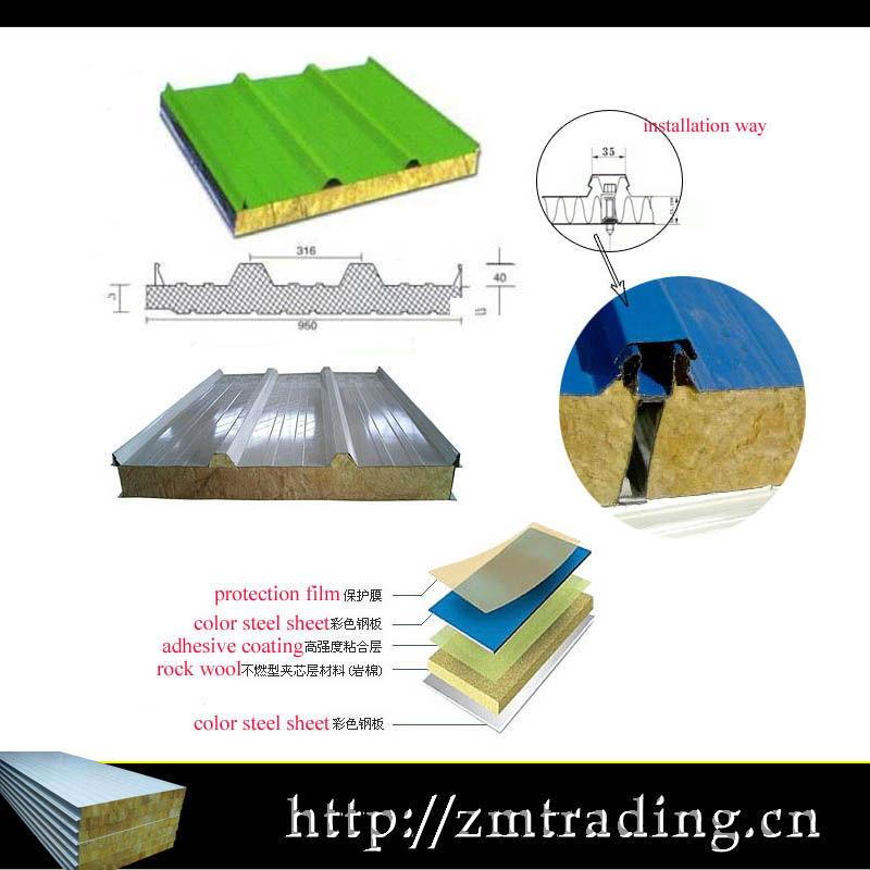 Materiales de aislamiento t rmico del techo mejor precio de aislamiento de lana de roca panel de - Materiales de aislamiento termico ...