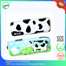 Recyclable custom cartoon printing pvc pencil bags for kids