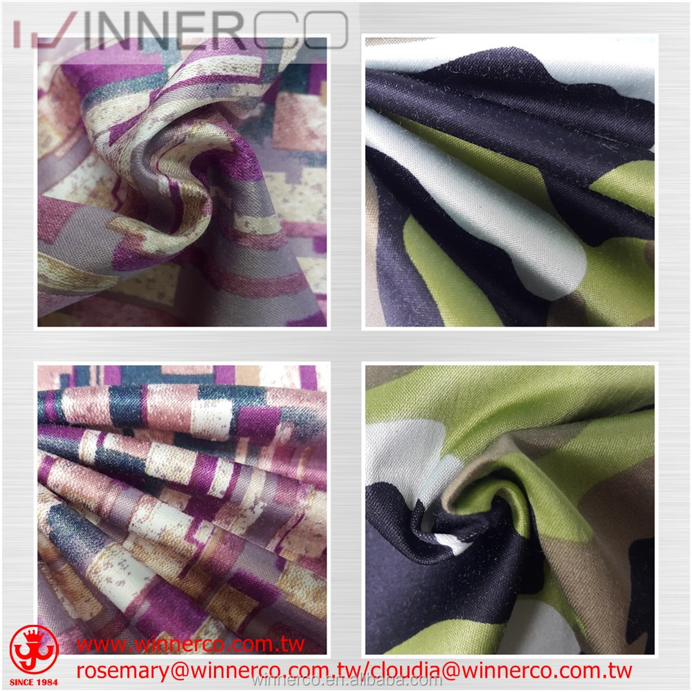 Colorful Polyester Cotton Spandex Satin Fabric by paper printing
