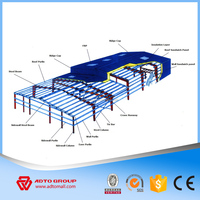 Long life Using Galvanized Steel Structure Fast Assembling Prefabricated Steel Warehouse Workshop