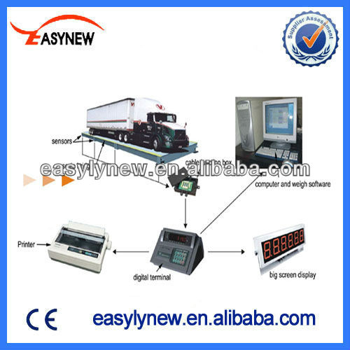 Easynew electric truck scale 60 ton weighbridge