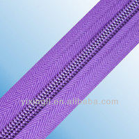 NO.3 nylon zipper for sale long chain best quality nylon zipper