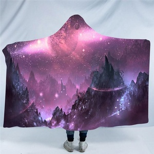 High Standard Star Sky Style Blanket With Hood For Adult With Competitive Price
