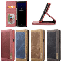 Sample Available High Quality Flip Leather Wallet TPU Cover Case for Samsung Note 8