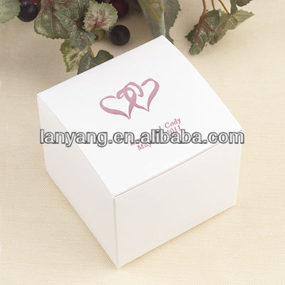 white wedding favors box gift card box