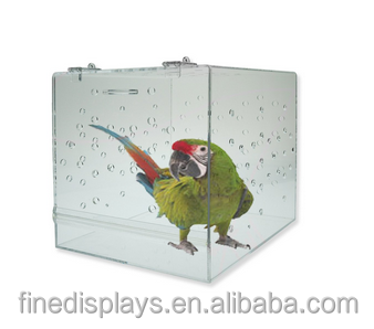 Bird Cage / Carrier Parrot Macaw Acrylic Bird Transporter Kennel Travel Pet(BC-B-0217)