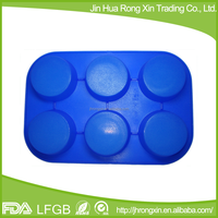 6 in 1 round silicone baby soap molds