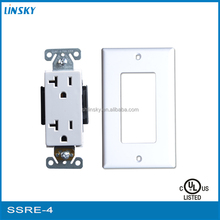 universal electrical wall outle sconce with power outlet with wall plate