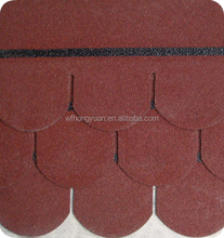 other waterproof materials fish scale type asphalt shingles for roof deciration