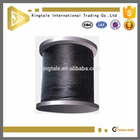 Black Steel Wire Cable for stage and movies 7X19 2.38mm