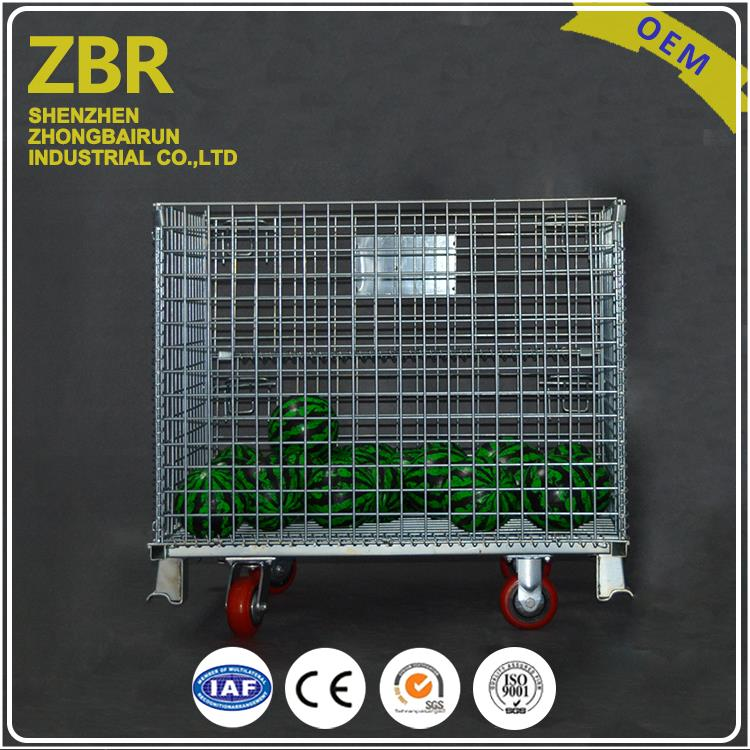Metal wire stacking basket storage mesh coin cage