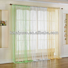 100% polyester string curtain for wall decoration in big size of 3m*3m