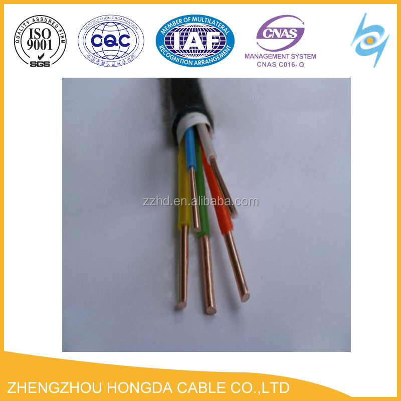 5*4mm2 power cable solid copper conductor cable