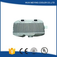 Customized made bar and plate front mount water to air intercooler trucks intercooler ,aluminum universal turbo intercooler