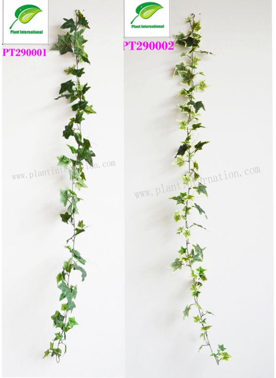 Nature polyester artificial Plant Big Green / Variegated Ivy leaf Garland Plants vine Home garden wall decoration