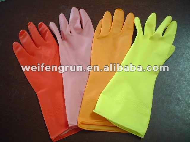 rubber gloves/non latex cleaning gloves