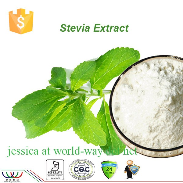 China manufacturer 100% pure natural RA98% sweeteners stevia powder extract,health food addictive Sweet Tea Extract
