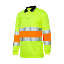 Various Color made in China OEM customized Hi Vis polo shirt <strong>safety</strong> reflective polo