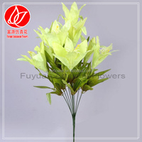 150130 Best quality best sell artificial decorative flowers ginger lily flower