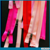NO.5 orange tape long chain plastic cover zipper
