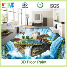 Antifouling penetrative scratch resistant anti slip liquid 3d floors epoxy resin for concrete floor