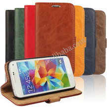 For Samsung galaxy S5 Mini leather wallet flip case