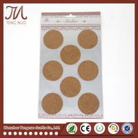 Custom Self Adhesive Die Cutting Cork Sticker For All Kinds Of Designs Sticker