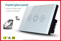 High efficient crystal tempered glass AC and DC touch screen dimmer light switch for smart home system