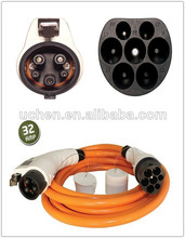 Electric Vehicle Conductive Charging cables / Chevrolet Volt euro plug male to female