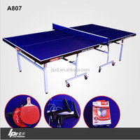 Standard Size Foldable & Movable Table Tennis Table