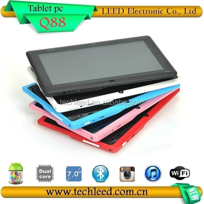 2014 NEW 7inch WIFI tablets in tablet PC Q88, Dual core Tab book